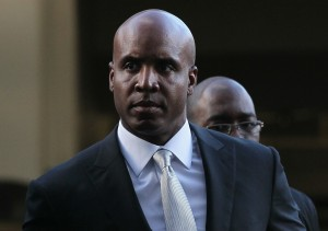 Barry Bonds arrives for his perjury trial.