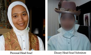 Official Disney hijab-substitute.
