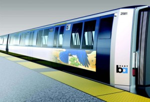 Concept for new trains, courtesy of BART