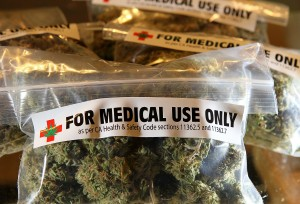 Medical marijuana bags. (Photo by: Justin Sullivan/Getty)