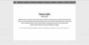 Apple honors Steve Jobs.