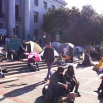 Student tents during the Occupy Cal protest earlier this month. photo by Caitlin Esch