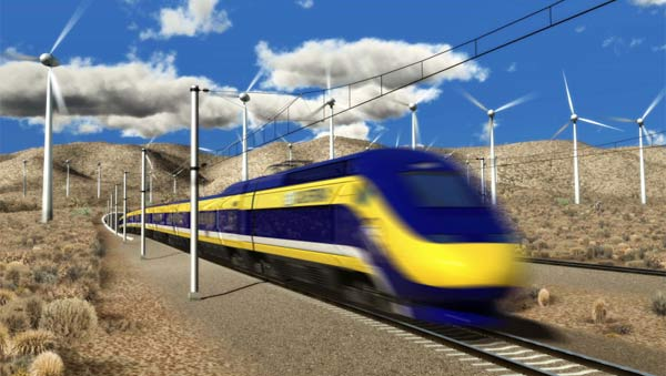 Artist's rendering from California High-Speed Rail Authority