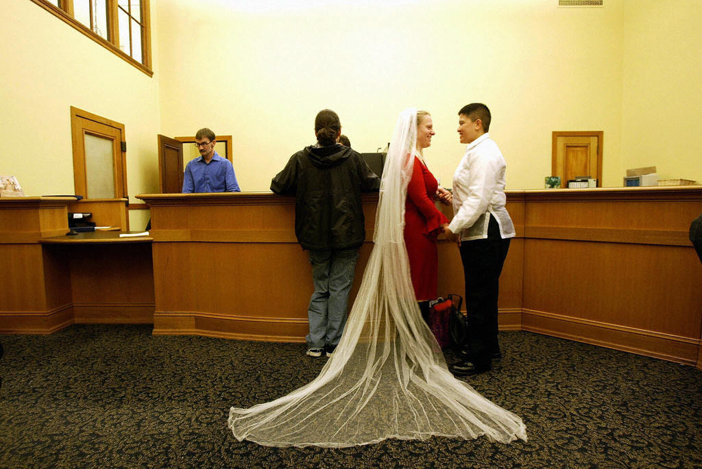 same sex marriage licenses in california in Merseyside