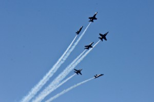 The Blue Angels perform over San Francisco