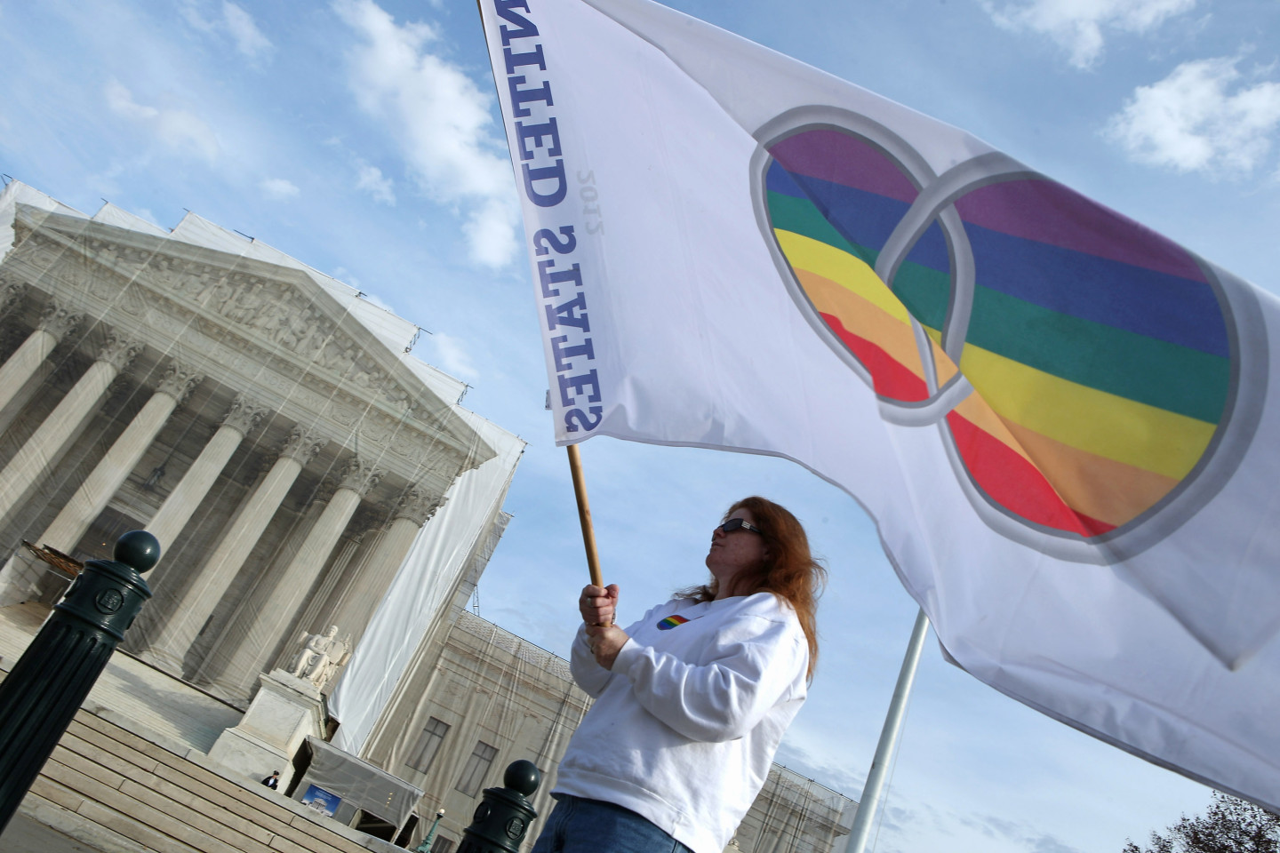 A supporter of same-sex marriage outside the U.S. Supreme Court in 2012. (Chip Somodevilla/Getty Images)