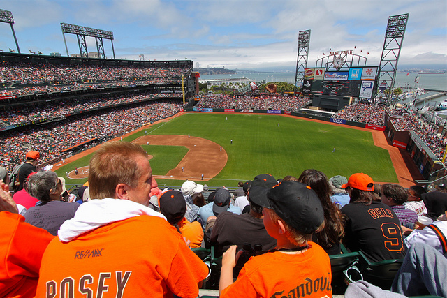 Fans at a Giants game this summer. Photo by Roy Luck/Flickr.
