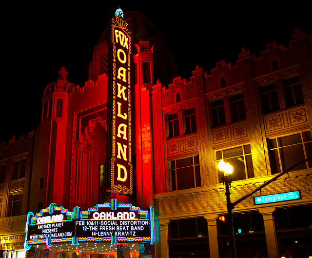 The New York Times cited the Fox Theater when it included Oakland on its list of 45 place to go in 2012. Photo by Pete Hottelet/Flickr.
