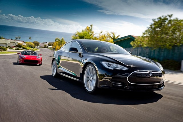 A Tesla Model S sedan. Tesla is the largest seller of electric vehicles in the nation.