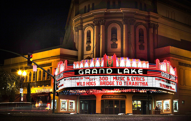 Oakland's Grand Lake Theater. Photo by Thomas Hawk/Flickr.
