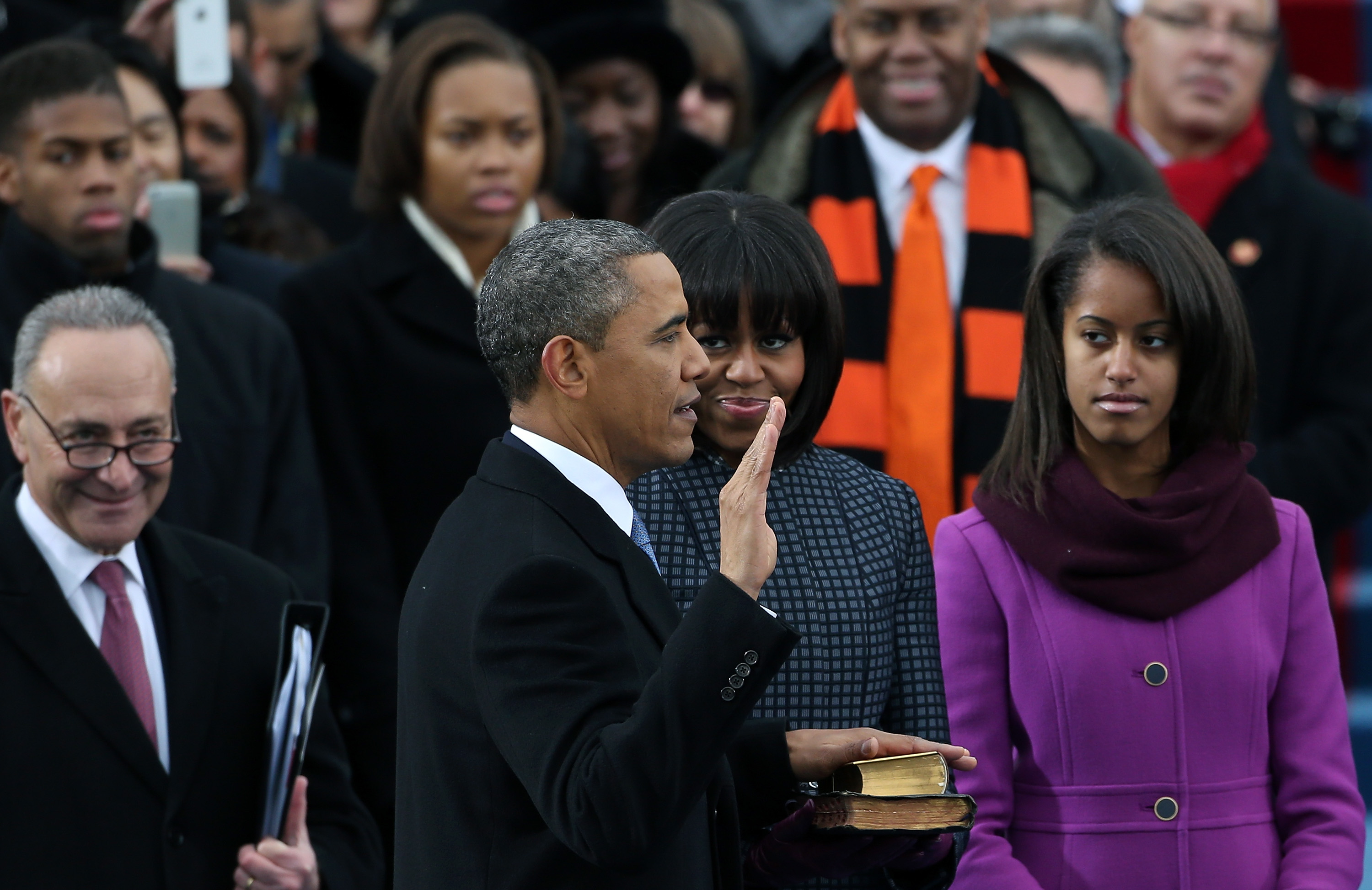 Barack Obama sworn In as U.S. President for a second term (Justin Sullivan/Getty)