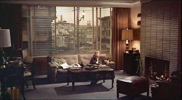 "The exterior scenes (for Scottie's home) were filmed at 900 Lombard Street on the corner of Jones ...  From inside the house, Hitchcock chose a window view of Coit Tower."" (Courtesy Reel SF)"