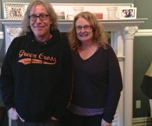 Jack and Juliette Rikas have lived in their rent-controlled apartment for 27 years, but say their landlord now wants to convert it to a tenants-in-common unit. (Sam Harnett/KQED)