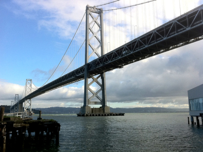 The Bay Bridge is set to open in September, but has had several setbacks in the ten years of its construction. (Rik Panganiban/Flickr)