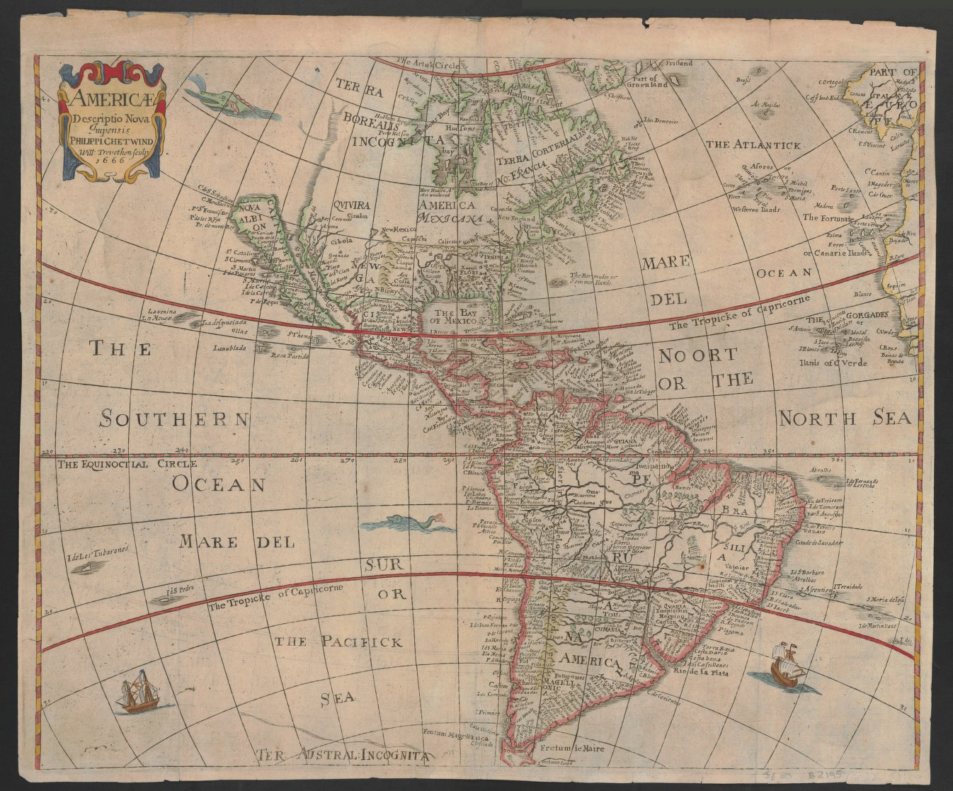 The first map Glen McLaughlin bought, by Henrici Siele in 1666. (Credit: Stanford University)