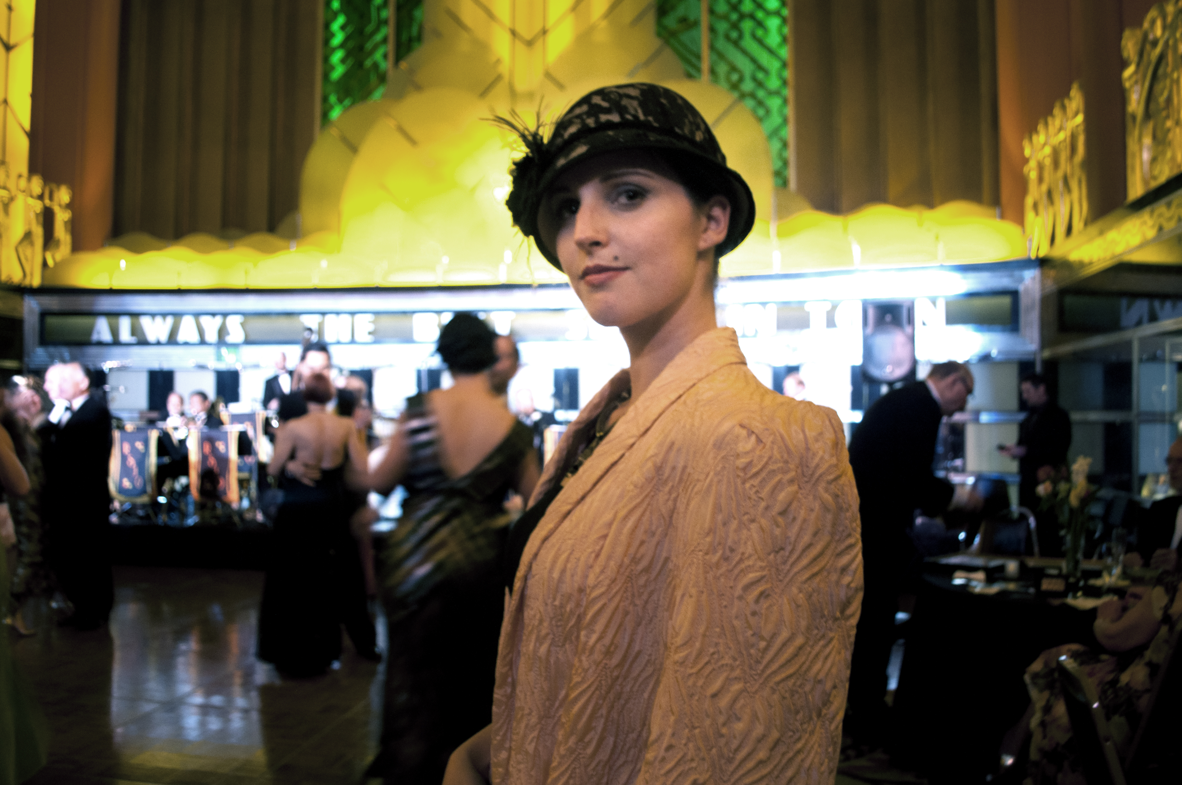 Woman dressed in the style of the 1920s. (Lauren Benichou/KQED)Woman dressed in the style of the 1920s. (Lauren Benichou/KQED)