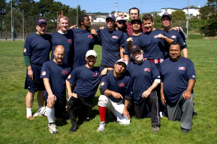 The Renegades team of the San Francisco Gay Softball League