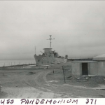 Until the early 1990s, the U.S. Navy operated atomic warfare training academies on Treasure Island. Some radioactive materials were stored in and around a mocked-up nuclear war training ship, the USS Pandemonium.(U.S. Navy photo)