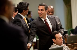 Assemblyman Henry Perea (left) and Assemblyman Kike Gatto. (Max Whittaker/Prime)