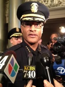 File photo, Oakland Police Chief Howard Jordan spoke at a press conference. (Mina Kim/KQED)