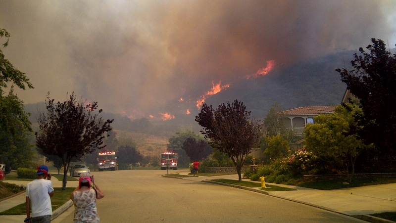 A shot of the Springs Fire in Ventura County.
