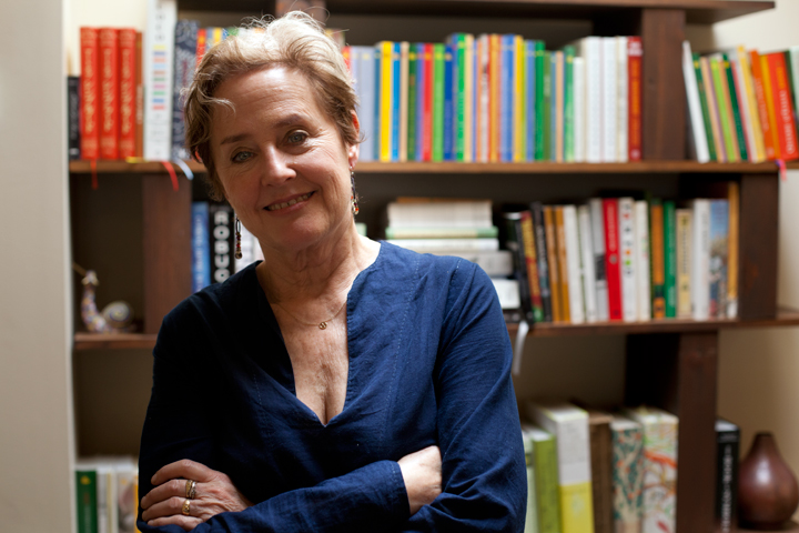 Alice Waters at Chez Panisse on Friday June 21, 2013. The Berkeley restaurant re-opens to the public today after reconstruction following a fire on March 8 that destroyed a significant portion of the façade. (Photo: Emilie Raguso)