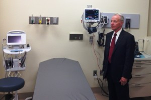 CA Corrections Secretary Jeffrey Beard tours the new California Health Care Facility in Stockton (Scott Detrow / KQED)