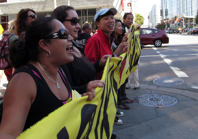 A rally to save City College of San Francisco in July 2013.