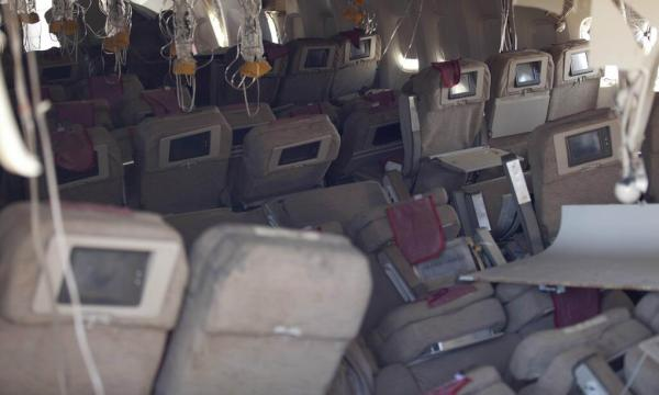 A view of the interior of Asiana Flight 214 after the plane crash landed at San Francisco International Airport on July 6, 2013. (Photo: NTSB)