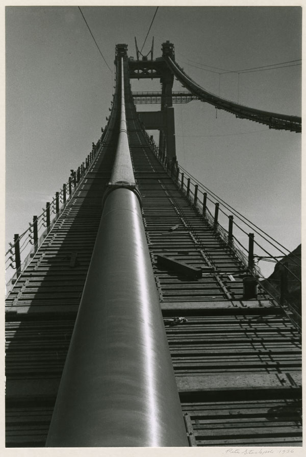 Peter Stackpole, Wrapped Cable, Golden Gate Bridge, 1936.