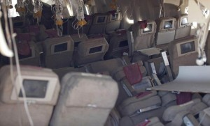A view of the interior of Asiana Flight 214 after the plane crash landed at San Francisco International Airport on July 6, 2013. (Photo courtesy of the National Transportation Safety Board.)