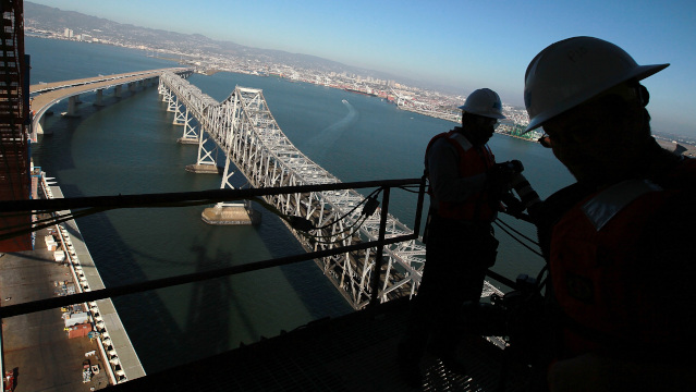 A view of the Bay Bridge. (Justin Sullivan/Getty Images)