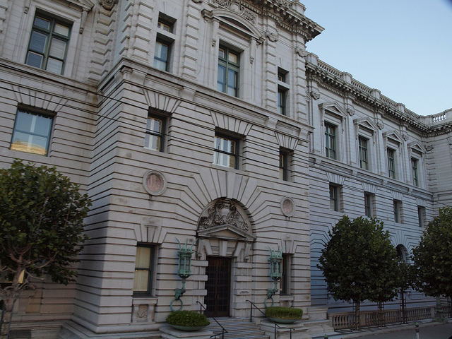 Entrance to the 9th U.S. Circuit Court of Appeals in San Francisco. (Eric Broder Van Dyke / Flickr)