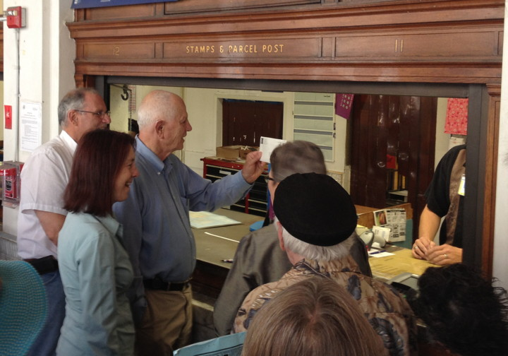 Mayor Tom Bates, flanked by Assemblywoman Nancy Skinner and State Senator Loni Hancock, mailed a letter to the U.S. Postal Service appealing the planned sale of Berkeley's main post office in May. Photo: Lance Knobel