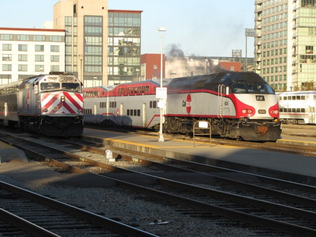 Caltrain has stopped service in Palo Alto.