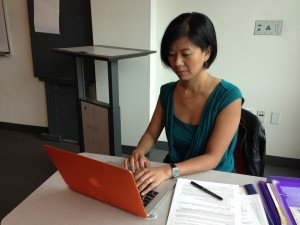 Melissa Canlas, a part-time Asian American Studies instructor at City College, says the school's accreditation issues have been trying for faculty members. (Charla Bear/KQED)
