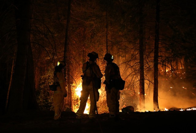 Firefighters Continue Battle Against Big Sur Blaze