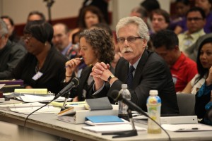 The BART Board of Inquiry on Wednesday, Aug. 7. (Deb Svoboda/KQED)