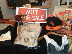 Display of merchandise to raise awareness at the Conference to End Child Sex Trafficking in San Francisco on Friday, Aug 2 (Isabel Angell/KQED)