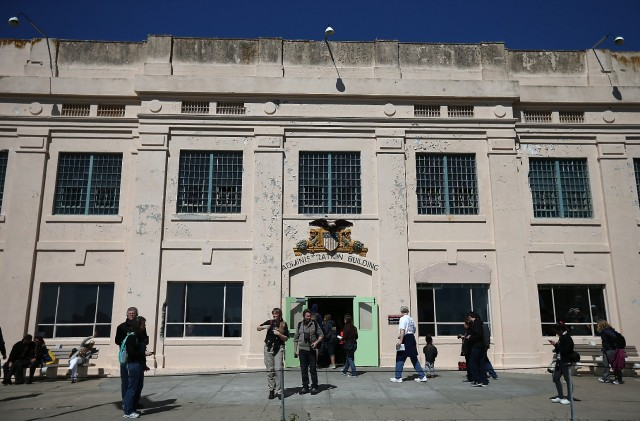 Tourists at Alcatraz, a National Park Service facility that would be closed if the federal government shuts down. (Justin Sullivan/Getty Images).