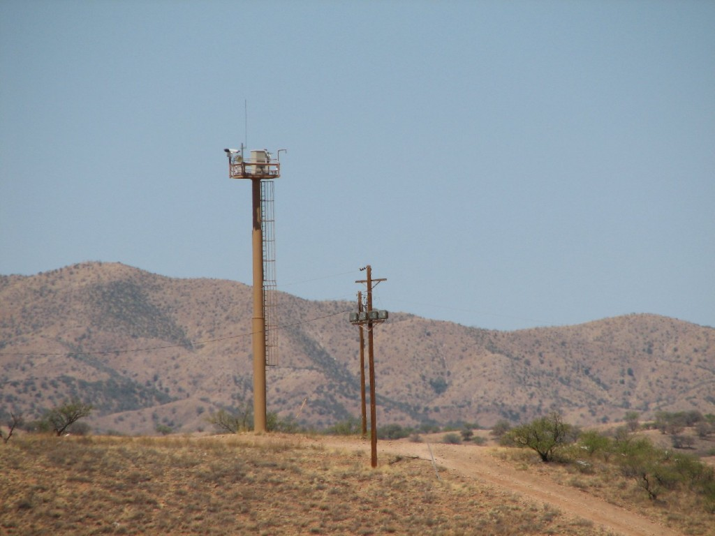 Electronic surveillance tower on the U.S.-Mexico border near Nogales, Ariz. (U.S. Customs and Border Protection)