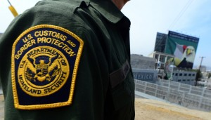 A U.S. Border Patrol agent at a crossing point in San Ysidro, Calif. (Frederic J. Brown/AFP-Getty Images)