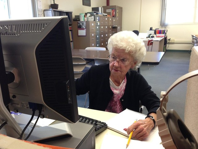 Wauneta Vasco, 77, is pursuing her longtime goal of getting her high school diploma. (Charla Bear/KQED)
