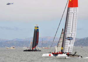 34th America's Cup World Series event, Aug. 22, 2012. (U.S. Coast Guard photo by Chief Petty Officer Mike Lutz)