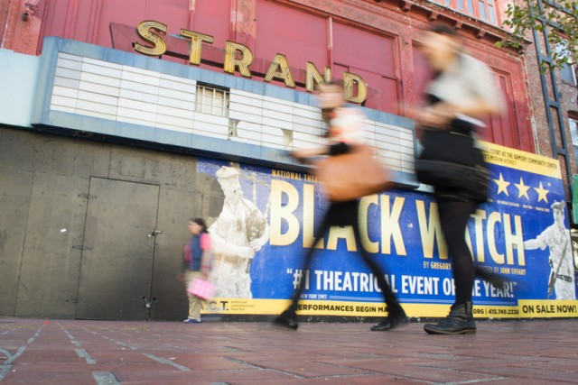 San Francisco officials and arts activists hope to turn the old Strand Theatre on Market Street into a performing-arts magnet. (Sara Bloomberg/KQED)