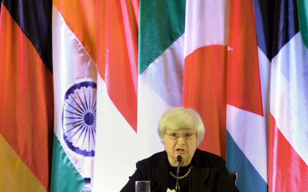 Federal Reserve Vice Chair and UC Berkeley business Professor Janet Yellen speaks at a international monetary conference in Shanghai last June. (Peter Parks-AFP/Getty Images)
