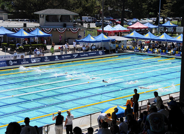 The George F. Haines International Swim Center in Santa Clara. (jdlasica / Flickr Commons)