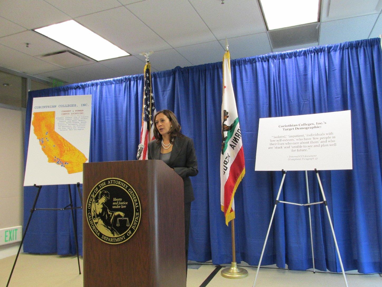 Attorney General Kamala Harris Sues For-Profit College