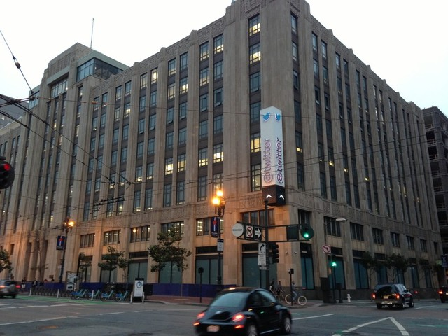 Twitter headquarters, on Market Street in San Francisco (Olivia Hubert-Allen).