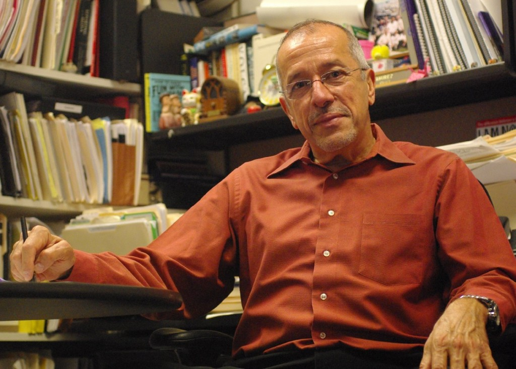 Ramirez in his office at KQED.